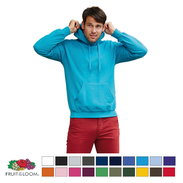 SUDADERA CON CAPUCHA FRUIT OF THE LOOM 280 grs. ADULTO